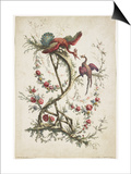 Ornament. Chinoiserie. Flowers and Birds., 1770 Poster by Jean Baptiste Pillement