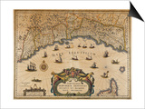 Republic of Genoa, Map, 1647 Prints by Jan Baptist Vrients