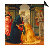 Visitation, with Maria Jakobaea and Maria Salome, 1491 Posters by Domenico Ghirlandaio