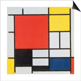 Piet Mondrian - Composition with Red, Yellow, Blue and Black, 1921 - Reprodüksiyon