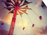 A Fair Ride Shot with a Long Exposure at Dusk Toned with a Retro Vintage Instagram Filter Prints by  graphicphoto