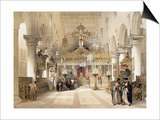 The Chapel of Saint Catherine at Mount Sinai Monastery, 1839 Poster by David Roberts