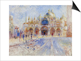 The Piazza San Marco, Venice, 1881 Posters by Pierre-Auguste Renoir