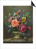 Roses and Pansies Prints by Albert Williams