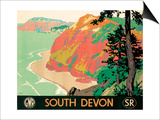 Seaton, Devon, 1930 Poster by Kenneth Shoesmith