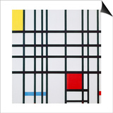 Composition with Red, Blue and Yellow Prints by Piet Mondrian
