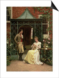 On the Threshold, 1900 Posters by Edmund Blair Leighton