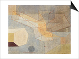 Gliding; Gleitendes, 1930 Poster by Paul Klee