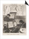 L'Orchestre Pendant Qu'On Joue Une Tragedie Affiches par Honore Daumier