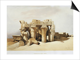 Egypt, the Ruins of the Temple of Kom Ombo Dedicated to Sobek and Horus Prints by David Roberts