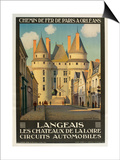 Langeais Les Chateaux De La Loire Print
