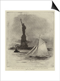 From the Old World to the New, Entering New York Harbour Prints by William Lionel Wyllie