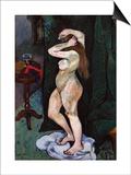 Nude Brushing Her Hair, C. 1916 Poster von Suzanne Valadon