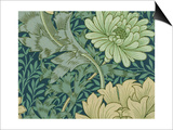 William Morris Wallpaper Sample with Chrysanthemum, 1877 Posters by William Morris