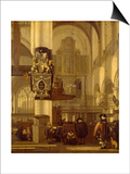 Interior of a Church Posters by Emanuel de Witte