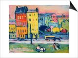 Wassily Kandinsky - Münih Evleri, 1908 - Reprodüksiyon