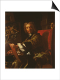 Self Portrait, 1730-31 Poster af Francesco Solimena