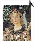 """Detail from the Painting """"Primavera"""": Head of Flora Pósters por Botticelli, Sandro"""