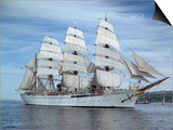 Sailing Ship Nippon Maru in Puget Sound Prints by Ray Krantz