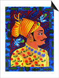 Maharaja with Blue Birds, 2011 Posters by Jane Tattersfield