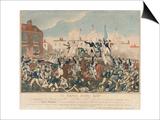 The Peterloo Massacre, 16th August 1819 Prints by George Cruikshank