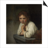 Girl at a Window, 1645 Posters by  Rembrandt van Rijn