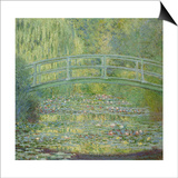 The Waterlily Pond and the Japanese Bridge Posters by Claude Monet