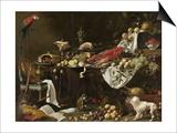 Banquet Still Life, 1644 Poster von Adriaen van Utrecht