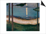 Moonlight, 1895 Posters af Edvard Munch