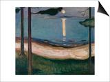 Moonlight, 1895 Art by Edvard Munch