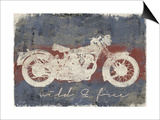 Wild and Free Motorcycle Posters by Eric Yang