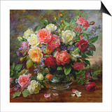 Roses - the Perfection of Summer Print by Albert Williams