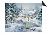 A Fine Winter's Eve Poster par Nicky Boehme