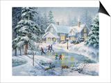 A Fine Winter's Eve Print by Nicky Boehme
