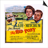 The Red Pony, from Left: Myrna Loy, Robert Mitchum, 1949 Poster
