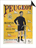 Poster Advertising the Cycles 'Peugeot', 1896 Posters by Albert Guillaume