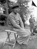 General Bernard Montgomery During a Press Conference in Normandy on June 11, 1944 Poster