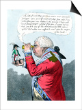 Napoleon and King George III as Gulliver and the King of Brobdingnag, July 1803 Prints by James Gillray