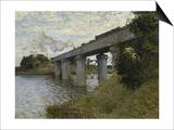 The Railroad Bridge in Argenteuil, 1873-1874 Prints by Claude Monet