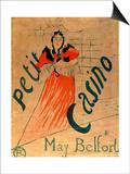 May Belfort, Petit Casino, 1895 Láminas por Henri de Toulouse-Lautrec