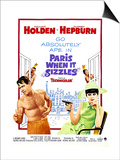 Paris When it Sizzles, William Holden, Audrey Hepburn, 1964 Art