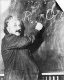 Einstein Writing Equation on Blackboard Posters