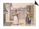 Travelling Saleswomen in Rio De Janeiro in 1827 Art by Jean Baptiste Debret