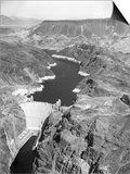 Aerial View of Hoover Dam Posters by Charles Rotkin