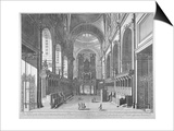 Interior View of St Paul's Cathedral, City of London, C1720 Poster by Johannes Kip