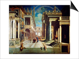 The Apparition of the Sibyl to Caesar Augustus, 1535 Poster by Paris Bordone