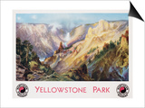 Yellowstone Park Northern Pacific Railway Poster after Thomas Moran Posters