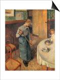 The Young Servant, 1882 Affiches par Camille Pissarro