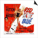 Red, Hot and Blue, from Left: Victor Mature, Betty Hutton, 1949 Prints