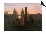 Kugelgen's Grave, 1821-1822 Prints by Caspar David Friedrich